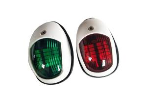 Комплект бортовых навигационных огней, белый (светодиод)