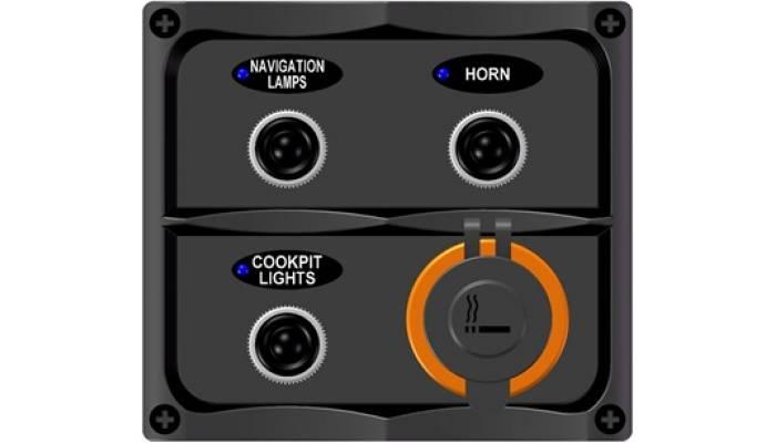 Панель электрическая с 3-я переключателями и прикуривателем