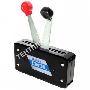 Контроллер газа-реверса двухрычажный В49 черный