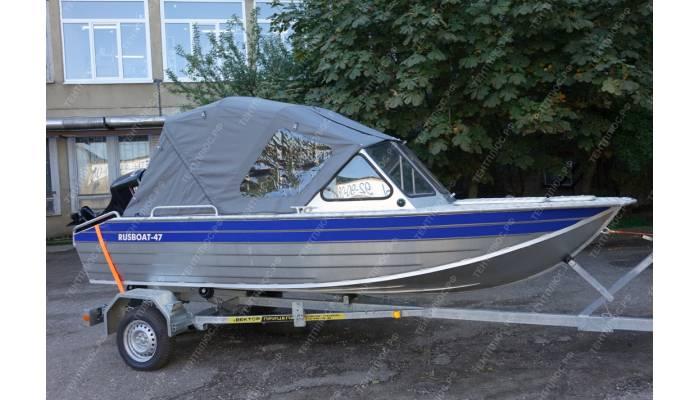 Тент трансформер на лодку Русбот 47