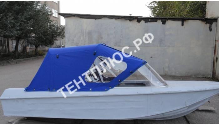 Тент на лодку Ока-4 на стекло с калиткой