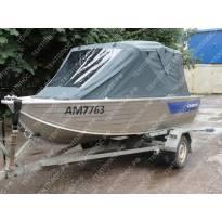 Тент с дугами на лодку Салют-430