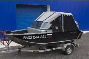 Тент на лодку Волжанка 46 Фиш. 2019 г.в. (VOLZHANKA 46 FISH)